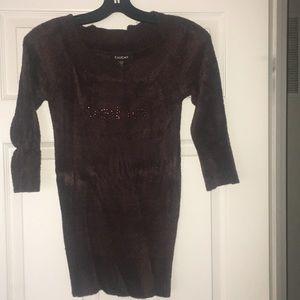 Bebe brown logo sweater
